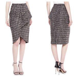 Badgley Mischka Collection Tweed Peplum Skirt